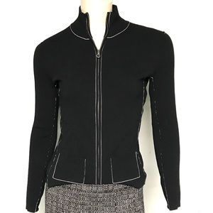 Anthropologie brand one girl who zip up cardigan